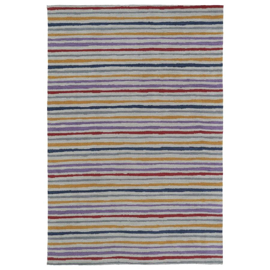 Kaleen Lily and Liam Indoor Handcrafted Kids Throw Rug (Common: 2 x 3; Actual: 2-ft W x 3-ft L)
