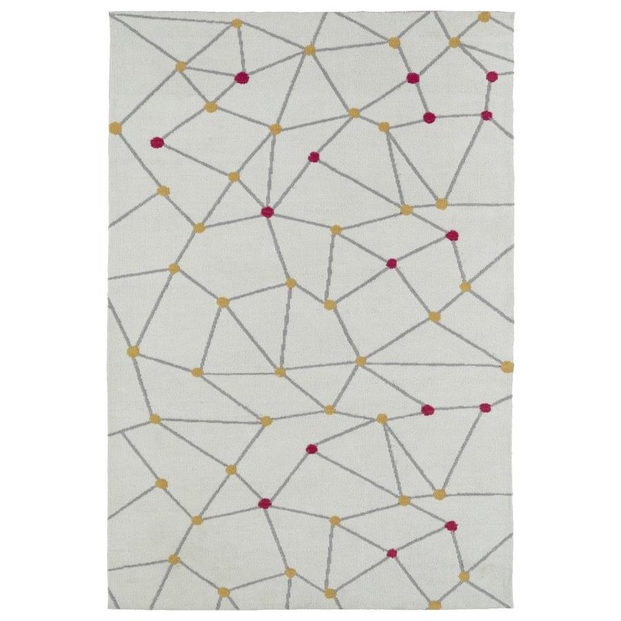 Kaleen Lily and Liam Ivory Rectangular Indoor Handcrafted Kids Area Rug (Common: 4 x 6; Actual: 4-ft W x 6-ft L)