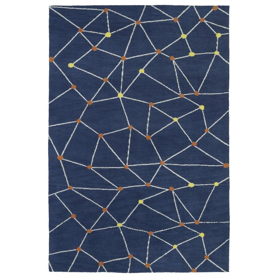 Kaleen Lily and Liam Denim Indoor Handcrafted Kids Throw Rug (Common: 3 x 5; Actual: 3-ft W x 5-ft L)