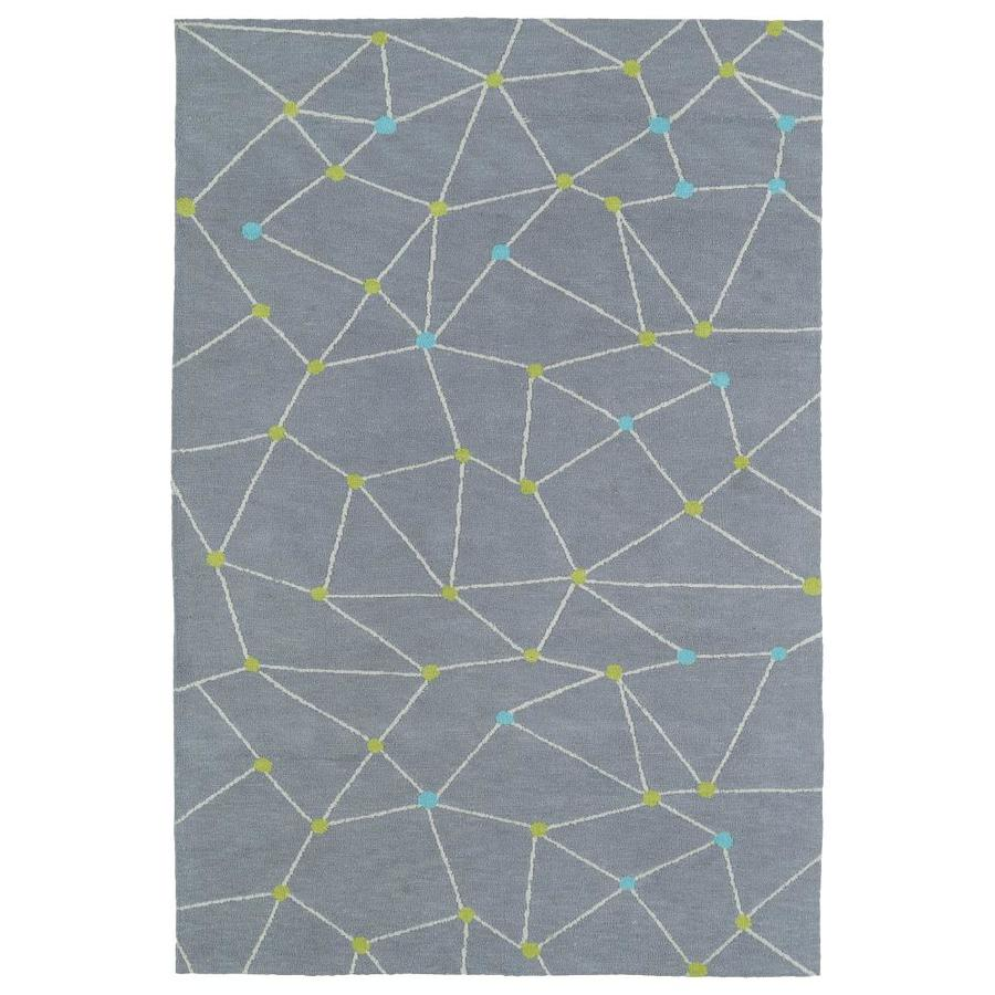Kaleen Lily and Liam Grey Rectangular Indoor Handcrafted Kids Throw Rug (Common: 2 x 3; Actual: 2-ft W x 3-ft L)