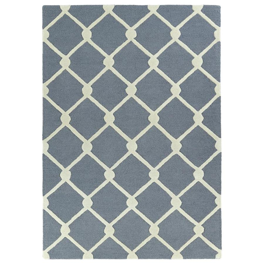 Kaleen Spaces Black Indoor Handcrafted Inspirational Throw Rug (Common: 3 x 5; Actual: 3-ft W x 5-ft L)
