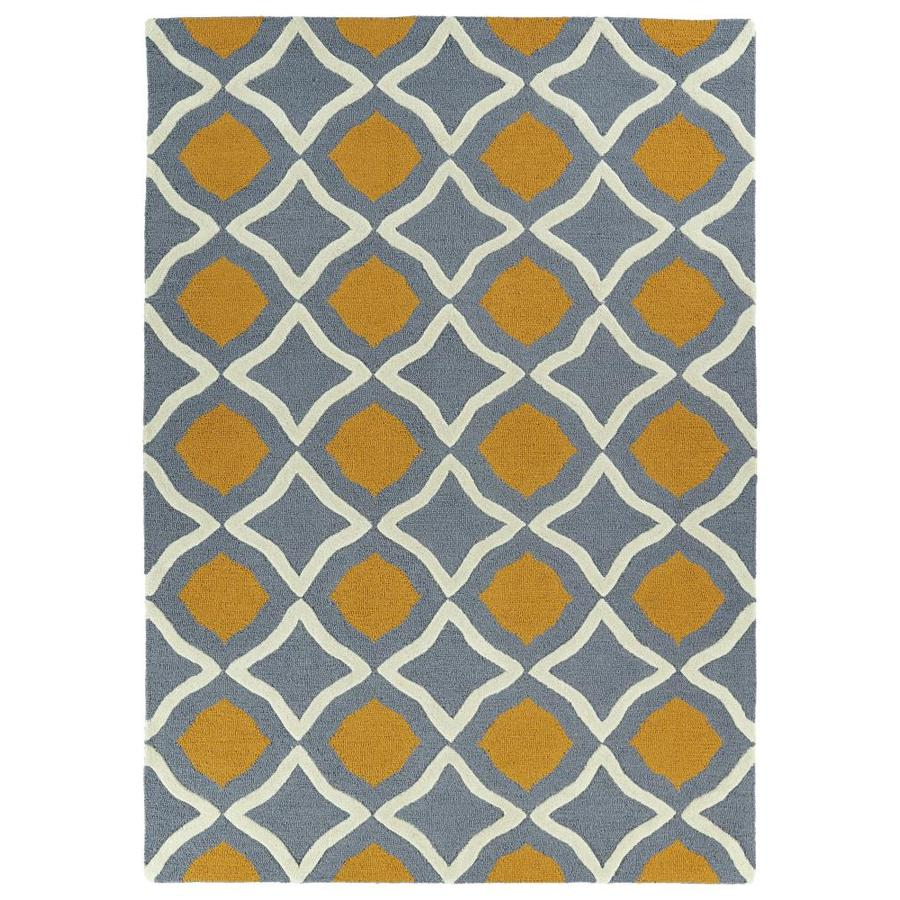 Kaleen Spaces Blue Indoor Handcrafted Inspirational Throw Rug (Common: 3 x 5; Actual: 3-ft W x 5-ft L)