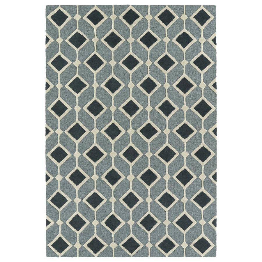 Kaleen Spaces Navy Rectangular Indoor Handcrafted Inspirational Area Rug (Common: 5 x 7; Actual: 5-ft W x 7-ft L)