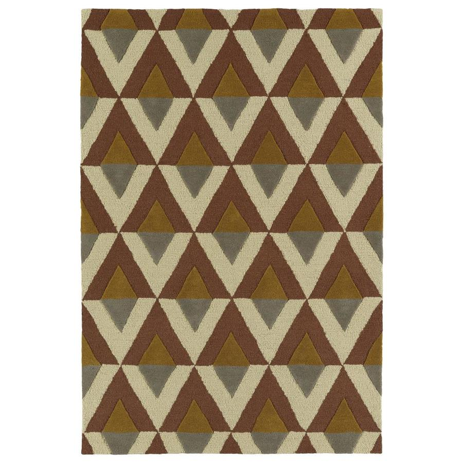Kaleen Spaces Brown Rectangular Indoor Handcrafted Inspirational Throw Rug (Common: 2 x 3; Actual: 2-ft W x 3-ft L)