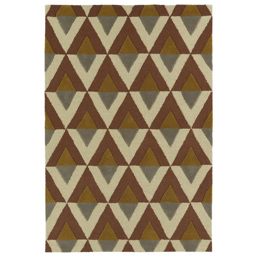 Kaleen Spaces Brown Rectangular Indoor Handcrafted Inspirational Area Rug (Common: 8 x 10; Actual: 8-ft W x 10-ft L)