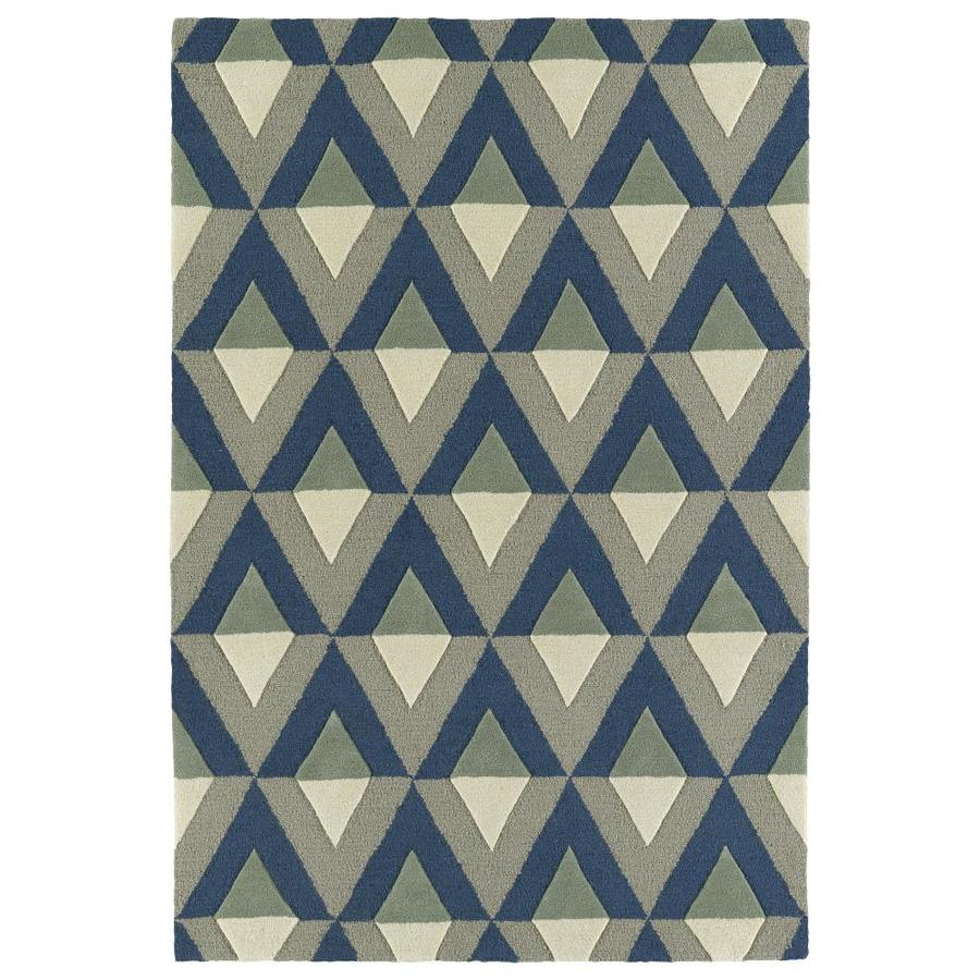 Kaleen Spaces Light Brown Indoor Handcrafted Inspirational Throw Rug (Common: 2 x 3; Actual: 2-ft W x 3-ft L)