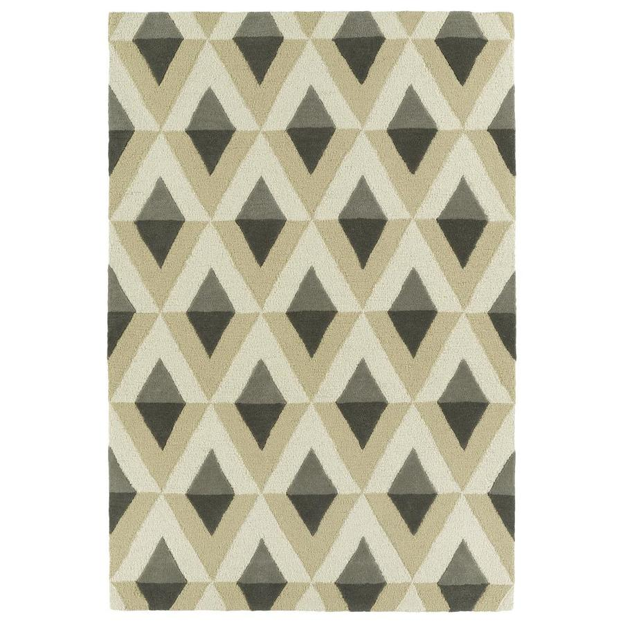 Kaleen Spaces Light Brown Rectangular Indoor Handcrafted Inspirational Throw Rug (Common: 2 x 3; Actual: 2-ft W x 3-ft L)