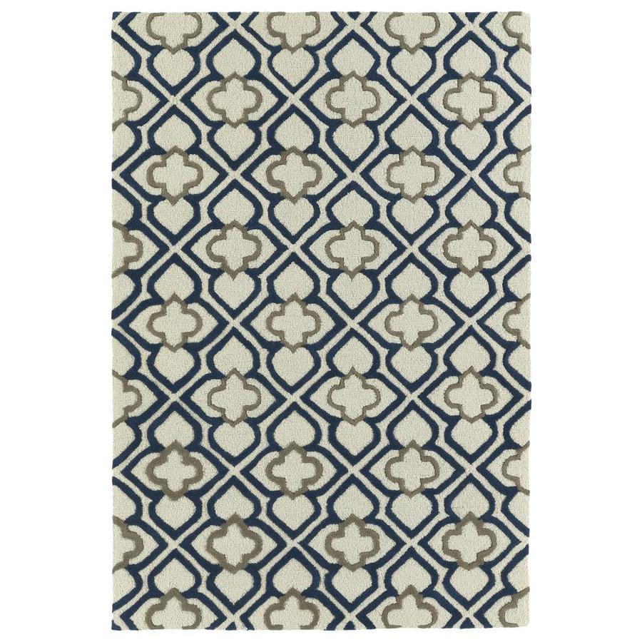 Kaleen Spaces Grey Indoor Handcrafted Inspirational Throw Rug (Common: 2 x 3; Actual: 2-ft W x 3-ft L)