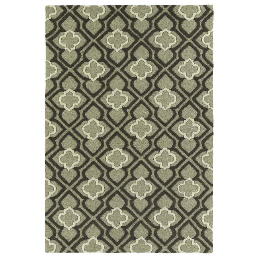 Kaleen Spaces Grey Rectangular Indoor Handcrafted Inspirational Throw Rug (Common: 2 x 3; Actual: 2-ft W x 3-ft L)