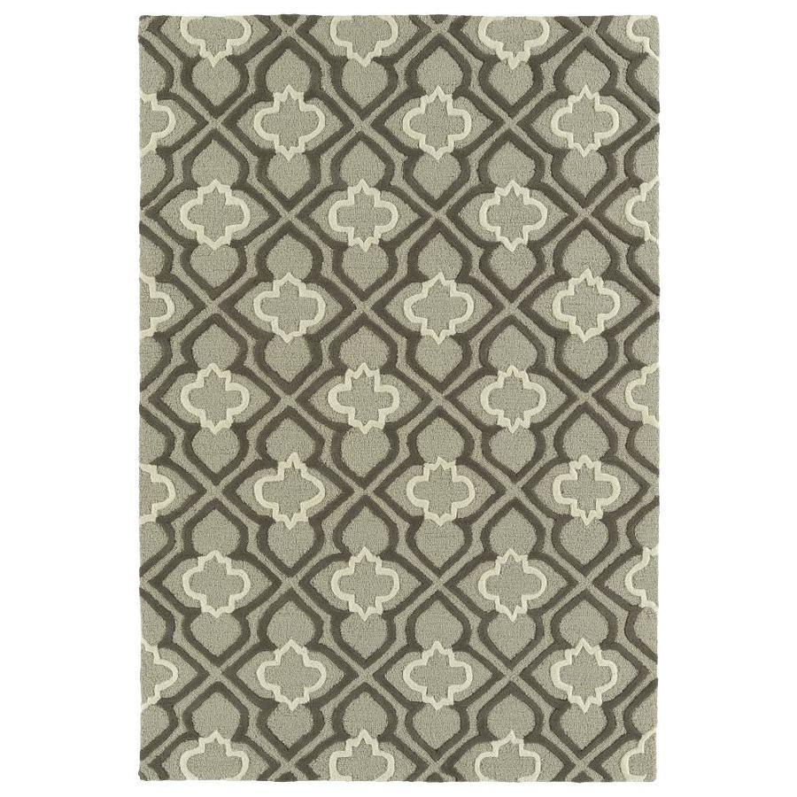 Kaleen Spaces Grey Rectangular Indoor Handcrafted Inspirational Area Rug (Common: 5 x 7; Actual: 5-ft W x 7-ft L)