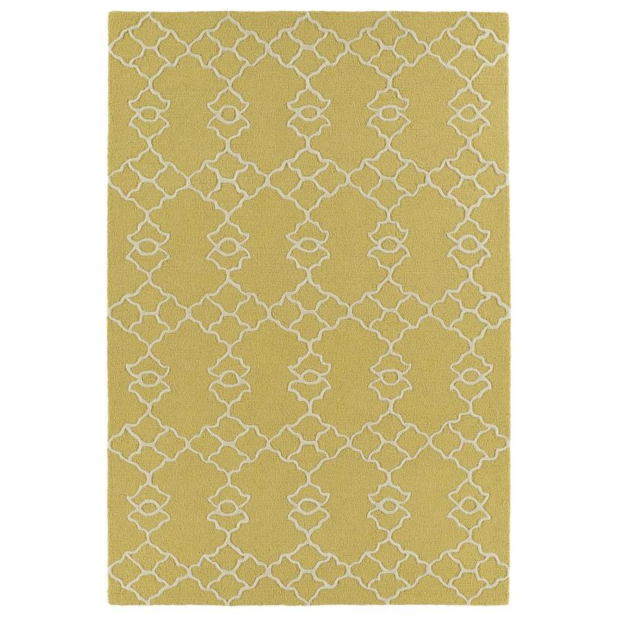Kaleen Spaces Gold Indoor Handcrafted Inspirational Throw Rug (Common: 2 x 3; Actual: 2-ft W x 3-ft L)