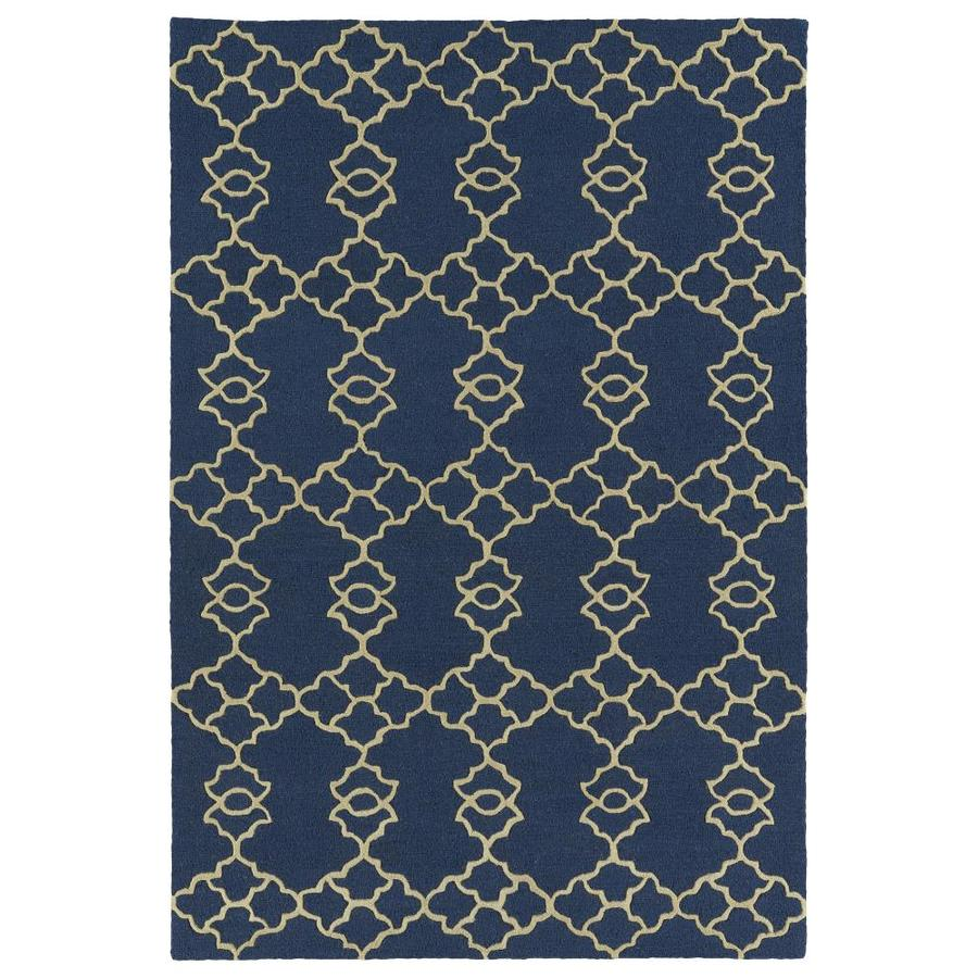 Kaleen Spaces Sage Rectangular Indoor Handcrafted Inspirational Throw Rug (Common: 3 x 5; Actual: 3-ft W x 5-ft L)