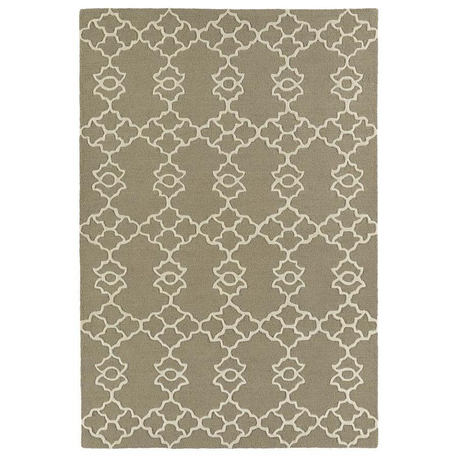 Kaleen Spaces Teal Rectangular Indoor Handcrafted Inspirational Area Rug (Common: 5 x 7; Actual: 5-ft W x 7-ft L)
