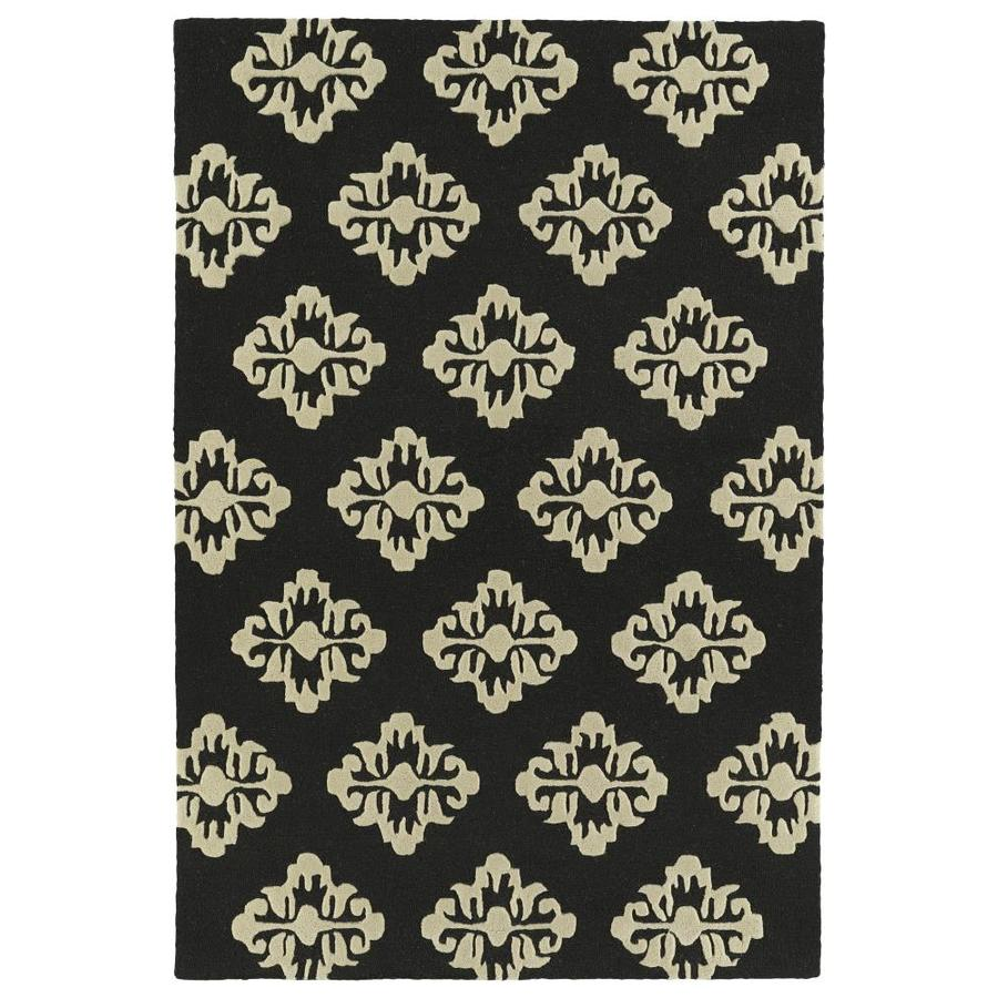 Kaleen Spaces Brick Rectangular Indoor Handcrafted Inspirational Area Rug (Common: 5 x 7; Actual: 5-ft W x 7-ft L)