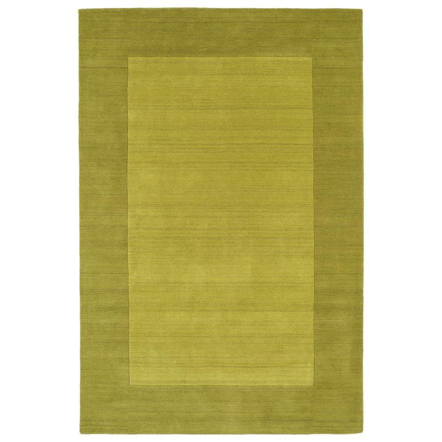 Kaleen Regency Lime Green Rectangular Indoor Handcrafted Oriental Area Rug (Common: 5 x 8; Actual: 5-ft W x 7.75-ft L)
