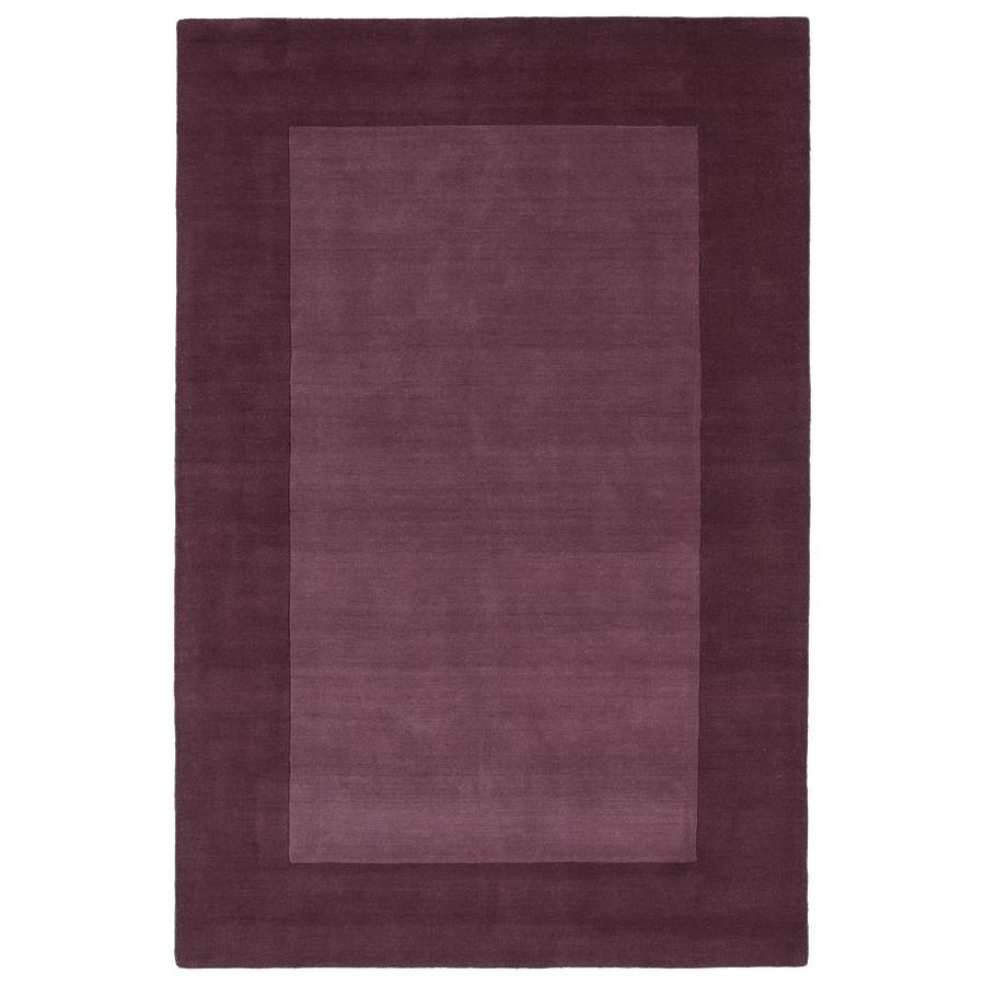 Kaleen Regency Grape Rectangular Indoor Handcrafted Oriental Area Rug (Common: 8 x 10; Actual: 8-ft W x 10-ft L)