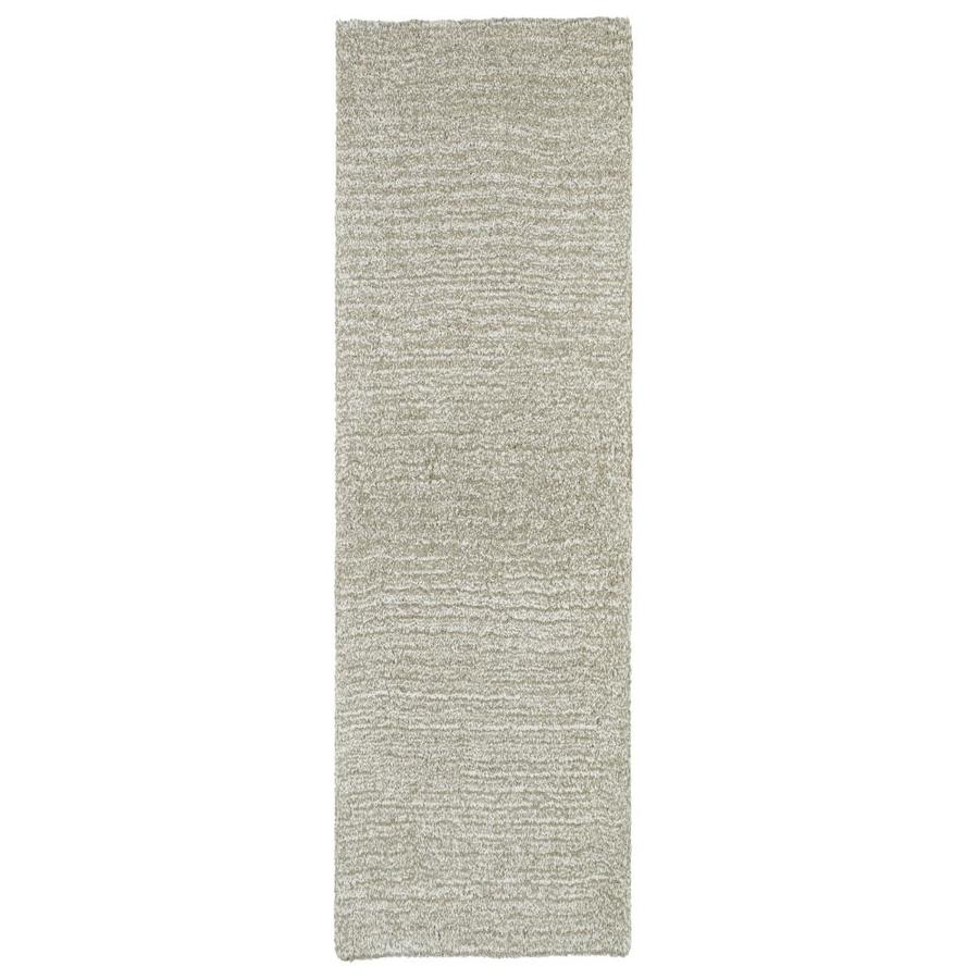 Kaleen Cotton Bloom Beige Indoor Handcrafted Runner (Common: 2 x 8; Actual: 2.25-ft W x 8-ft L)
