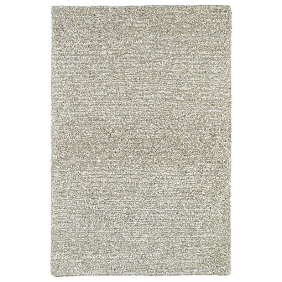 Kaleen Cotton Bloom Beige Rectangular Indoor Handcrafted Area Rug (Common: 9 x 12; Actual: 9-ft W x 12-ft L)
