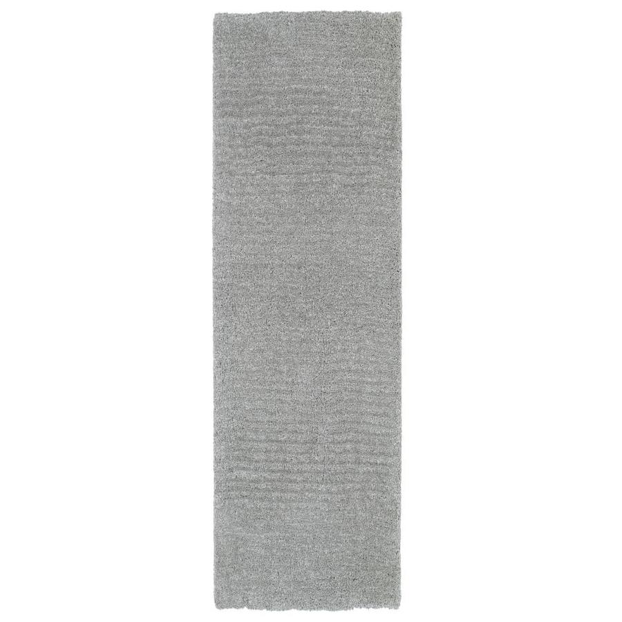 Kaleen Cotton Bloom Grey Indoor Handcrafted Runner (Common: 2 x 8; Actual: 2.25-ft W x 8-ft L)