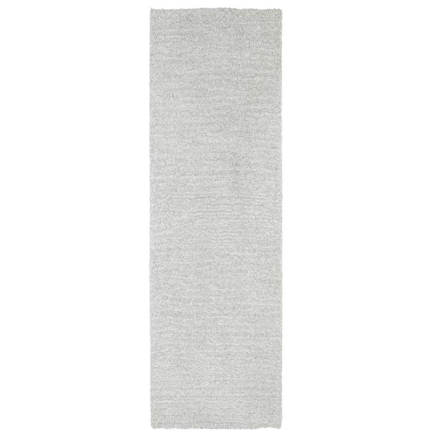 Kaleen Cotton Bloom Silver Indoor Handcrafted Runner (Common: 2 x 8; Actual: 2.25-ft W x 8-ft L)