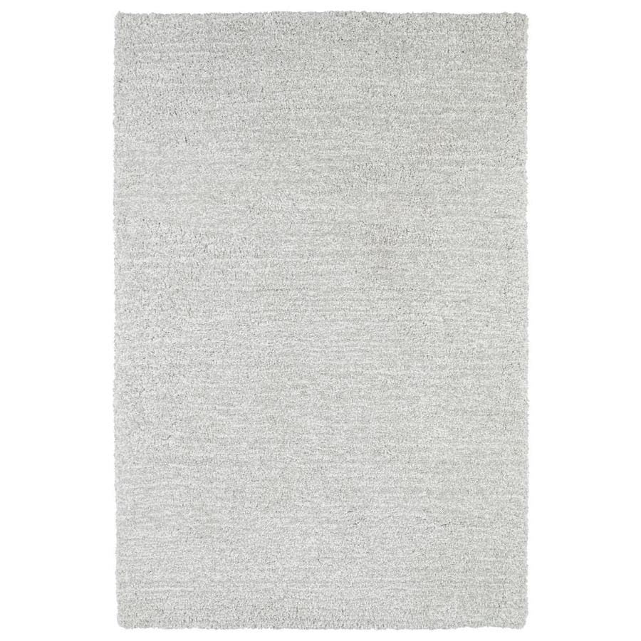 Kaleen Cotton Bloom Silver Rectangular Indoor Handcrafted Area Rug (Common: 9 x 12; Actual: 9-ft W x 12-ft L)