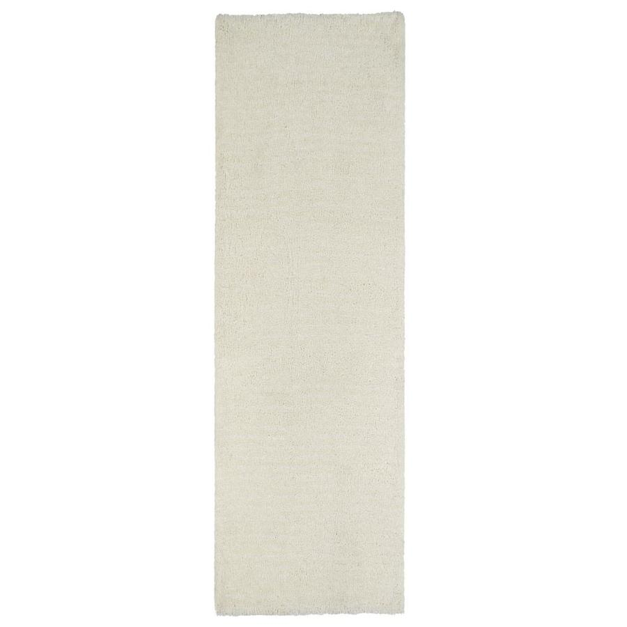 Kaleen Cotton Bloom White Indoor Handcrafted Runner (Common: 2 x 8; Actual: 2.25-ft W x 8-ft L)