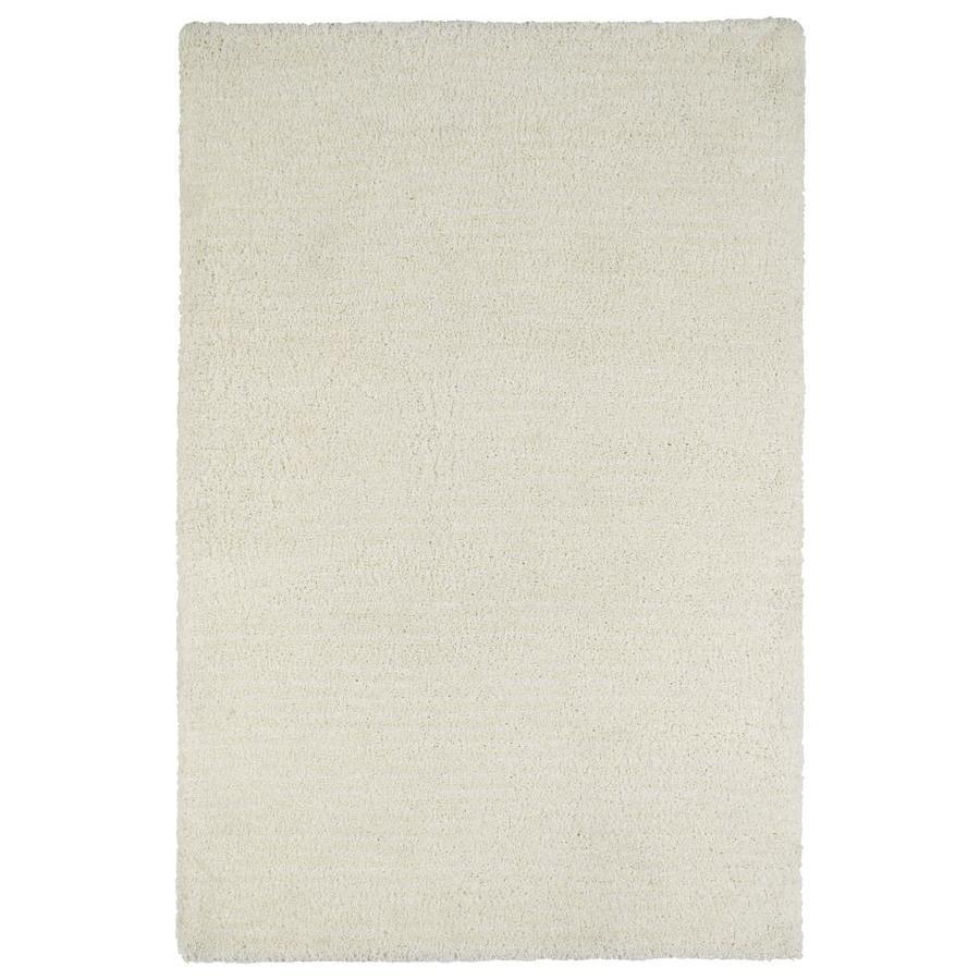 Kaleen Cotton Bloom White Rectangular Indoor Handcrafted Area Rug (Common: 4 x 6; Actual: 3.5-ft W x 5.5-ft L)