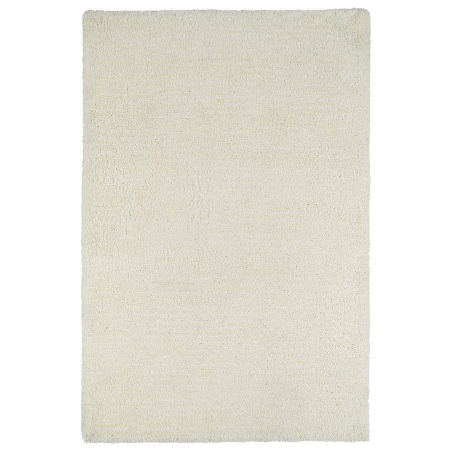 Kaleen Cotton Bloom White Indoor Handcrafted Area Rug (Common: 8 x 10; Actual: 8-ft W x 10-ft L)
