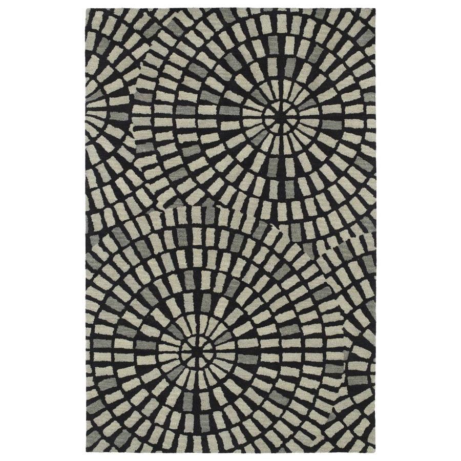 Kaleen Rosaic Black Rectangular Indoor Handcrafted Runner (Common: 2 x 8; Actual: 2.5-ft W x 8-ft L)