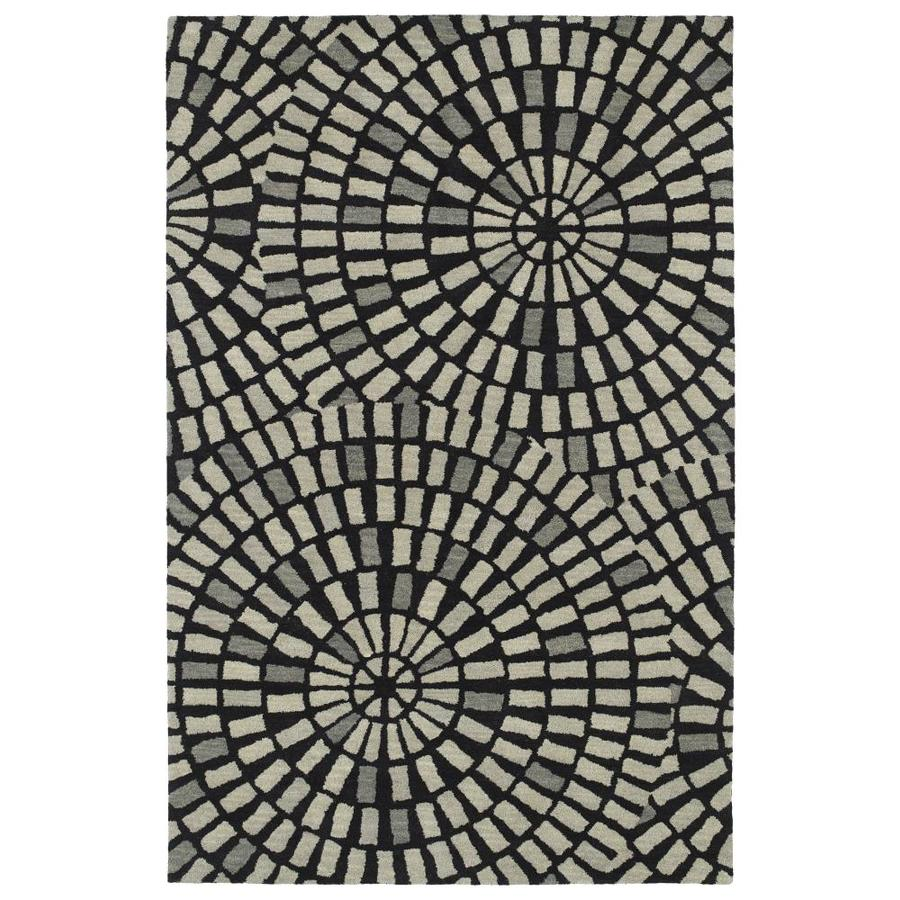Kaleen Rosaic Black Rectangular Indoor Handcrafted Area Rug (Common: 10 x 13; Actual: 9.5-ft W x 13-ft L)