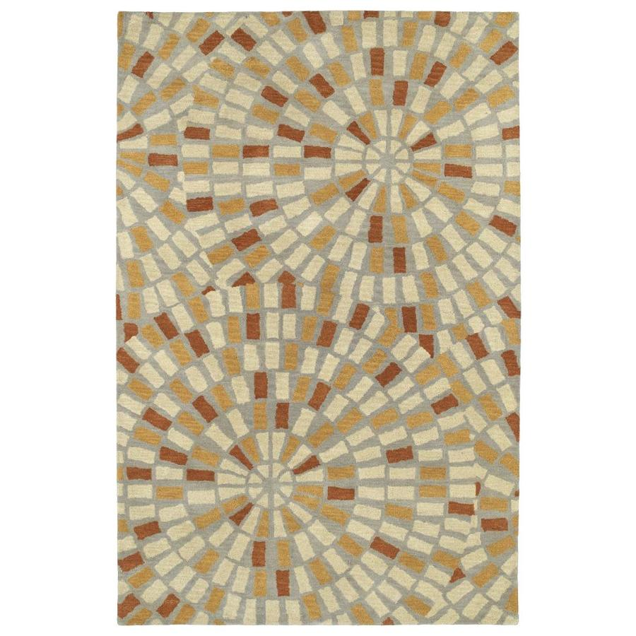 Kaleen Rosaic Beige Rectangular Indoor Handcrafted Throw Rug (Common: 2 x 3; Actual: 2-ft W x 3-ft L)