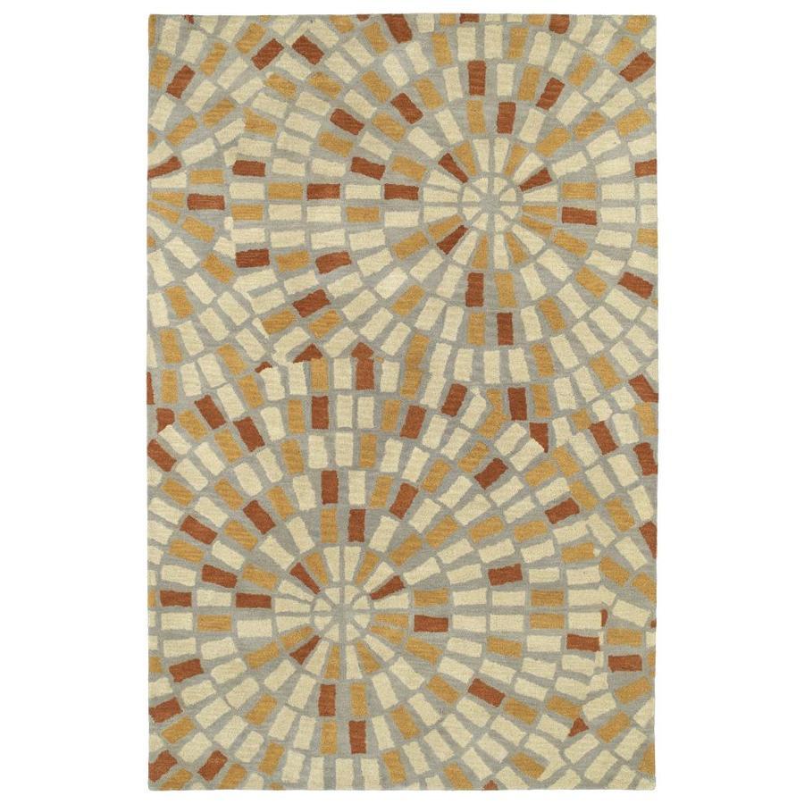 Kaleen Rosaic Beige Indoor Handcrafted Area Rug (Common: 4 x 6; Actual: 3.5-ft W x 5.5-ft L)