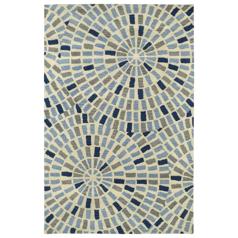 Kaleen Rosaic Blue 3-ft6-in x 5-ft6-in Area Rug