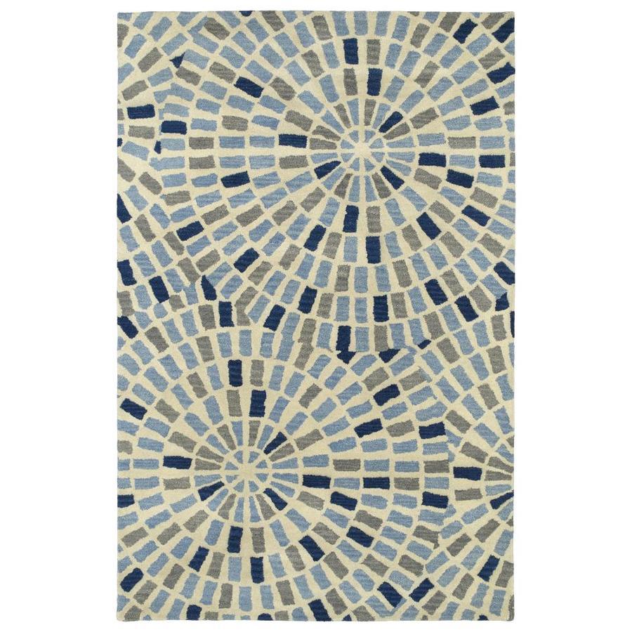 Kaleen Rosaic Blue Rectangular Indoor Handcrafted Area Rug (Common: 5 x 8; Actual: 5-ft W x 7.75-ft L)