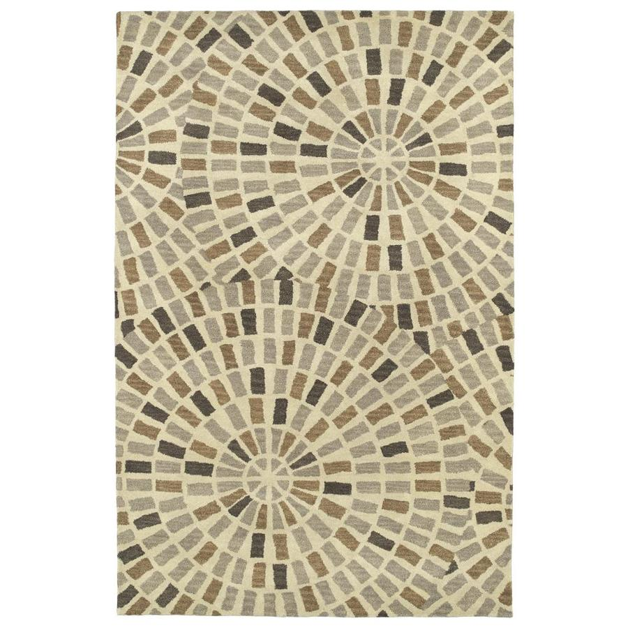 Kaleen Rosaic Brown Indoor Handcrafted Area Rug (Common: 5 x 8; Actual: 5-ft W x 7.75-ft L)