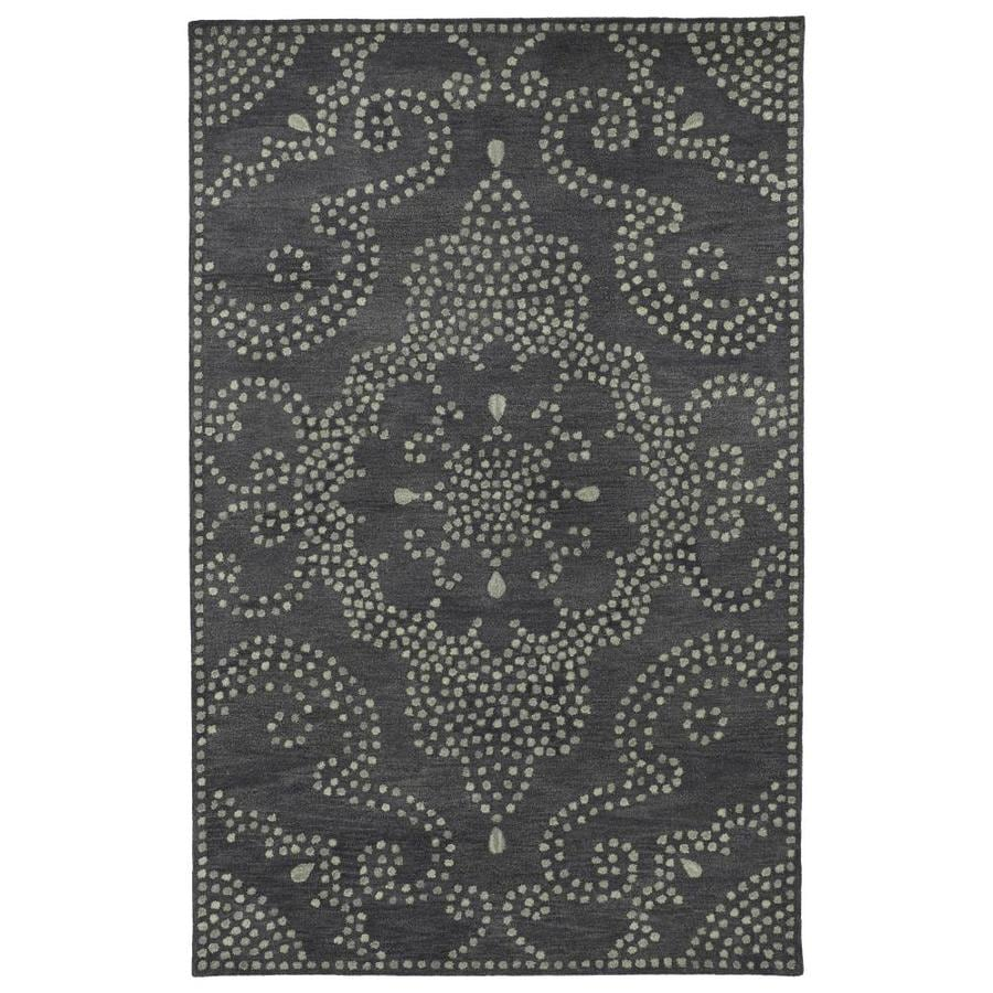 Kaleen Rosaic Charcoal Rectangular Indoor Handcrafted Throw Rug (Common: 2 x 3; Actual: 2-ft W x 3-ft L)