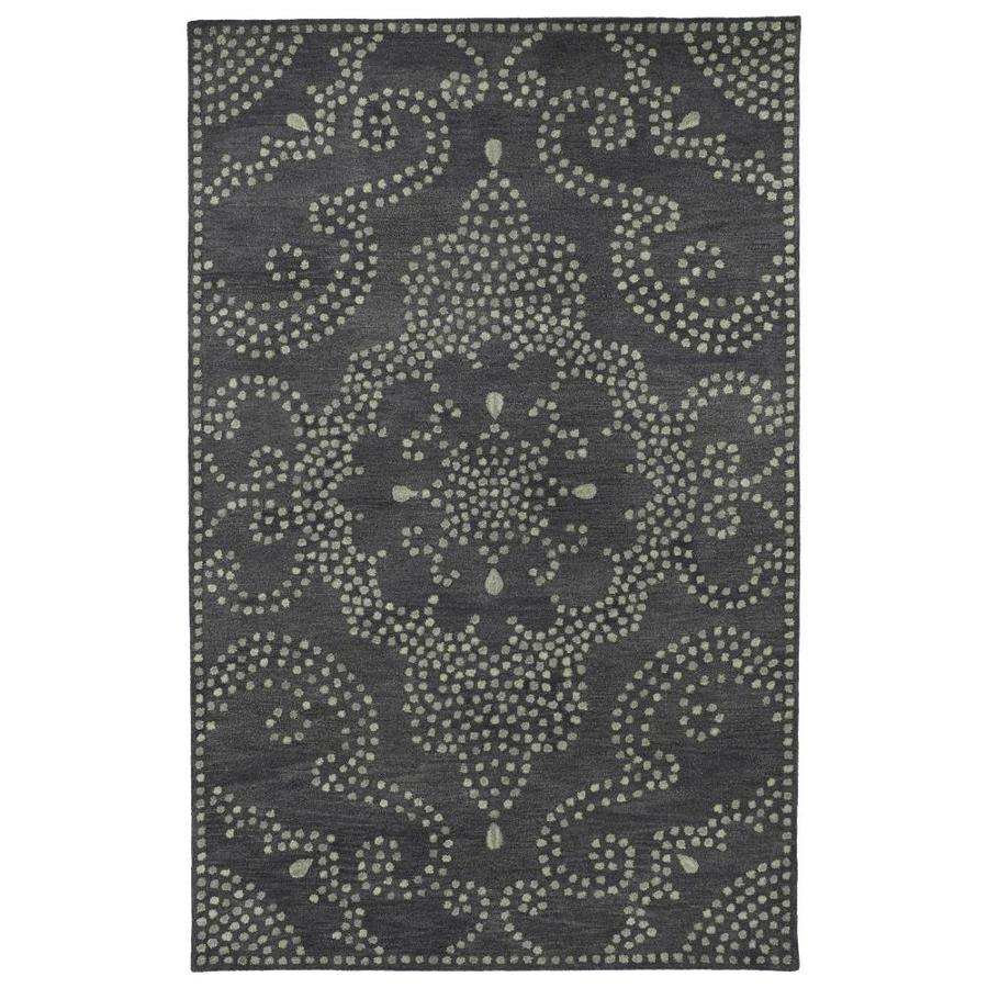 Kaleen Rosaic Charcoal Indoor Handcrafted Area Rug (Common: 8 x 11; Actual: 8-ft W x 11-ft L)