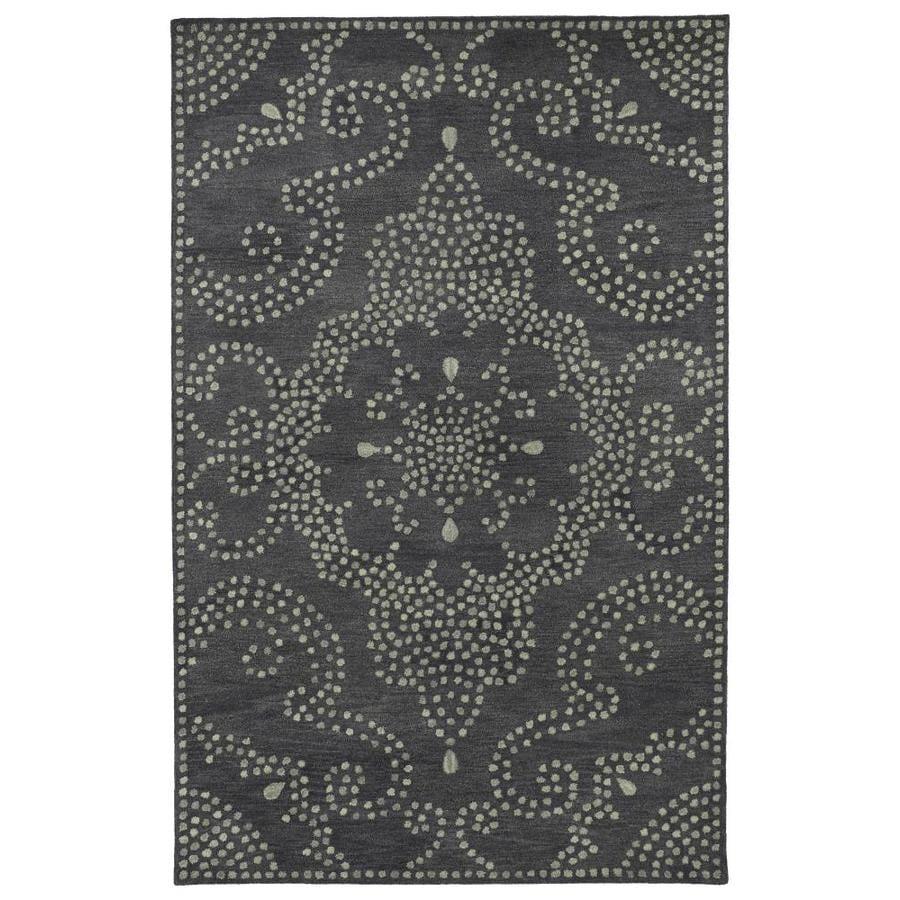 Kaleen Rosaic Charcoal Rectangular Indoor Handcrafted Area Rug (Common: 8 x 11; Actual: 8-ft W x 11-ft L)