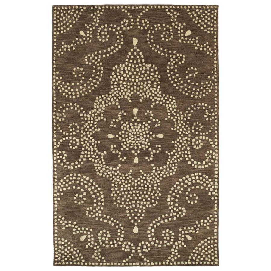 Kaleen Rosaic Brown Rectangular Indoor Handcrafted Area Rug (Common: 4 x 6; Actual: 3.5-ft W x 5.5-ft L)