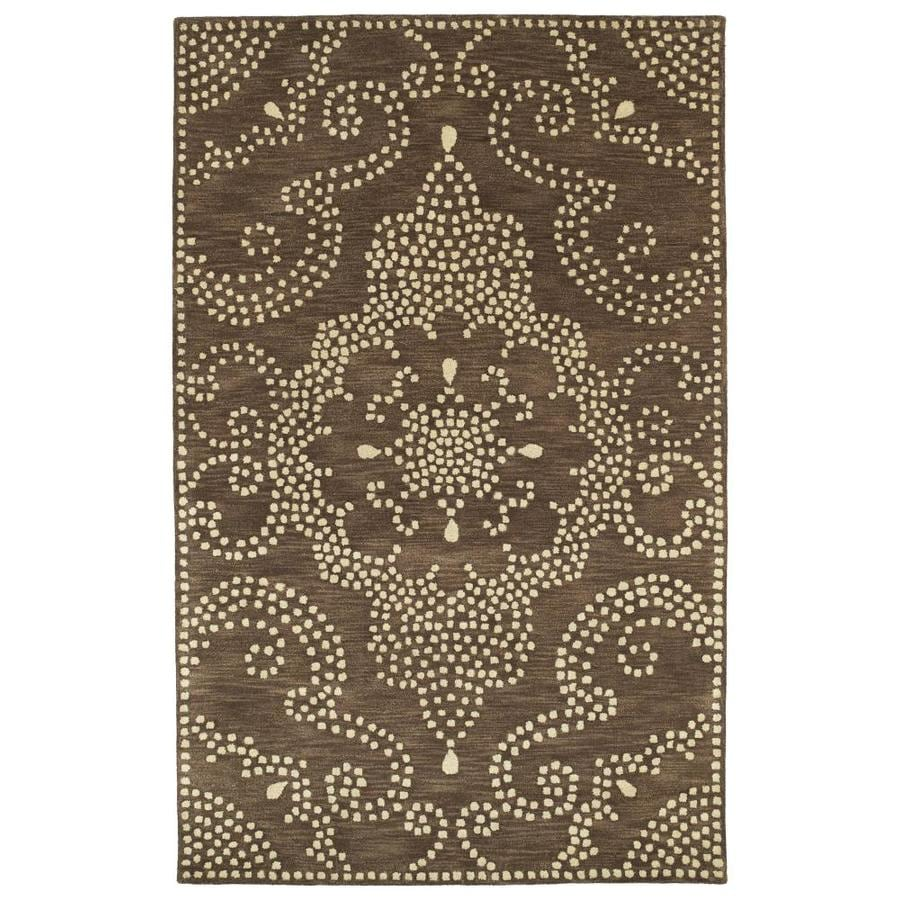 Kaleen Rosaic Brown Rectangular Indoor Handcrafted Area Rug (Common: 10 x 13; Actual: 9.5-ft W x 13-ft L)