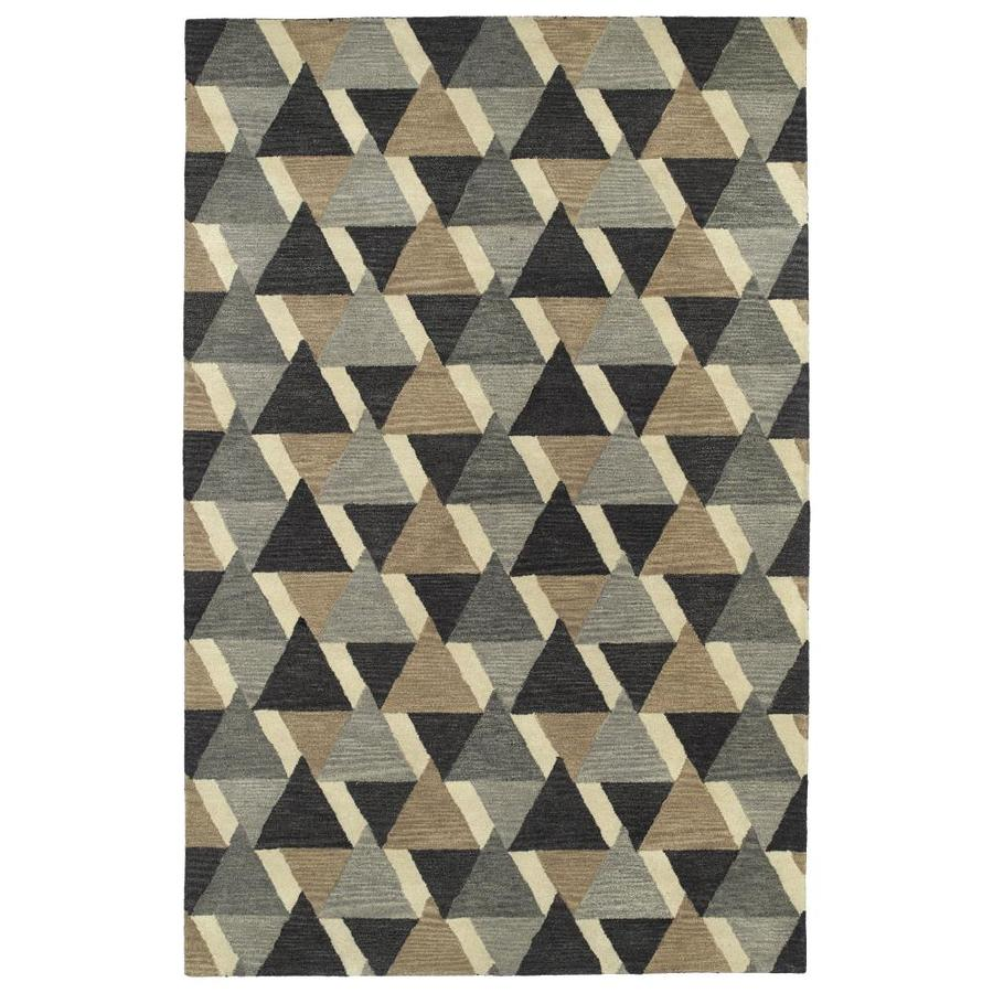 Kaleen Rosaic Charcoal Indoor Handcrafted Area Rug (Common: 5 x 8; Actual: 5-ft W x 7.75-ft L)