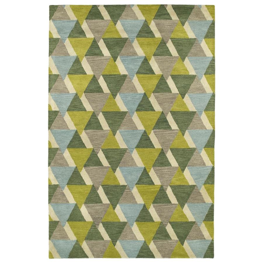 Kaleen Rosaic Lime Green Rectangular Indoor Handcrafted Area Rug (Common: 4 x 6; Actual: 3.5-ft W x 5.5-ft L)