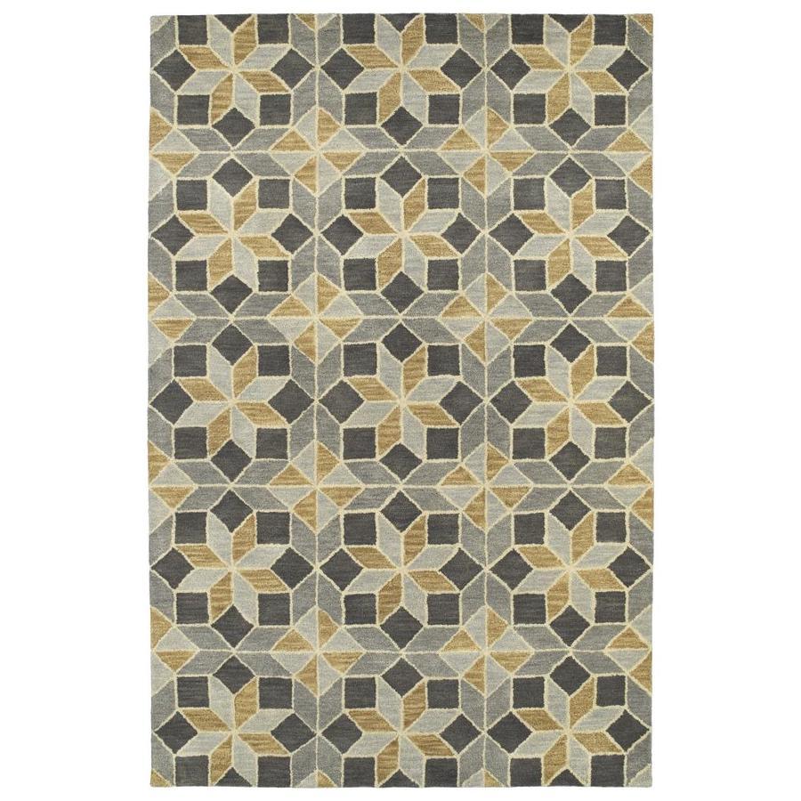 Kaleen Rosaic Grey Rectangular Indoor Handcrafted Area Rug (Common: 4 x 6; Actual: 3.5-ft W x 5.5-ft L)
