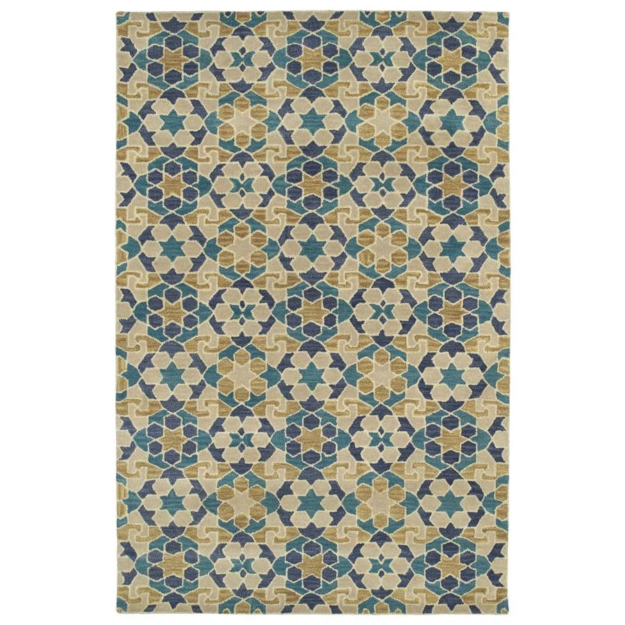 Kaleen Rosaic Sand Indoor Handcrafted Area Rug (Common: 4 x 6; Actual: 3.5-ft W x 5.5-ft L)