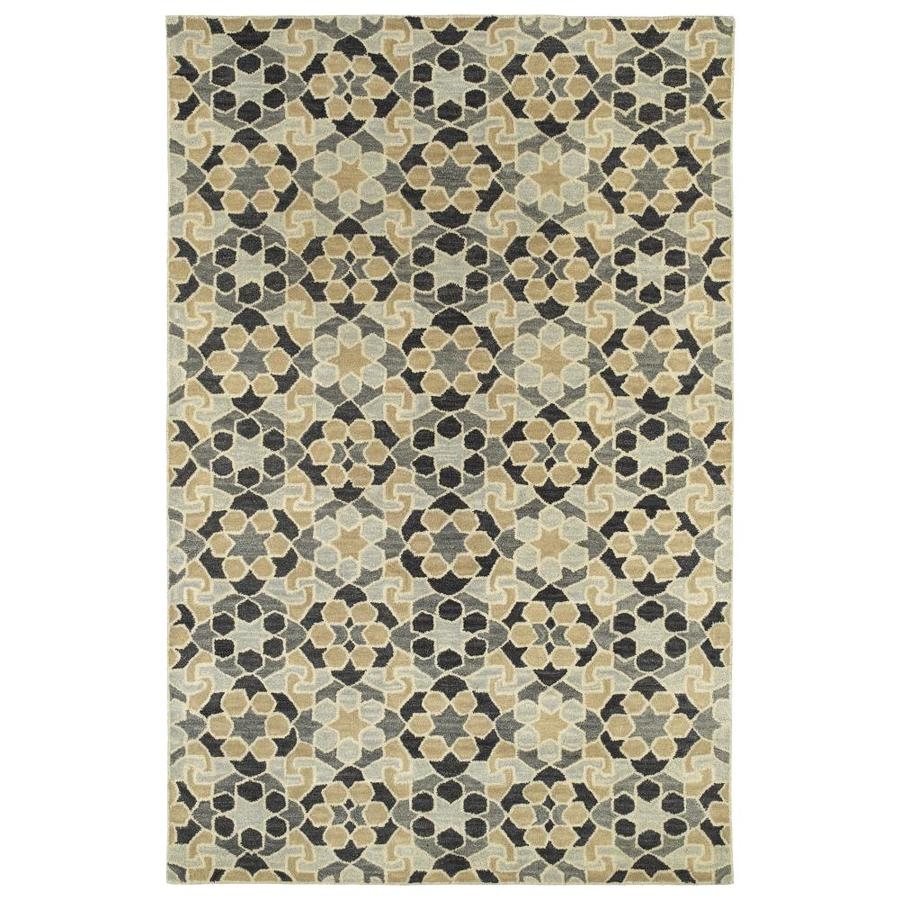 Kaleen Rosaic Charcoal Indoor Handcrafted Throw Rug (Common: 2 x 3; Actual: 2-ft W x 3-ft L)