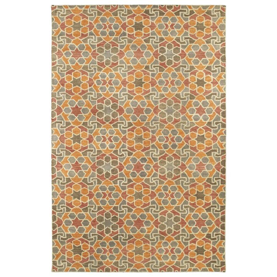 Kaleen Rosaic Orange Rectangular Indoor Handcrafted Area Rug (Common: 4 x 6; Actual: 3.5-ft W x 5.5-ft L)
