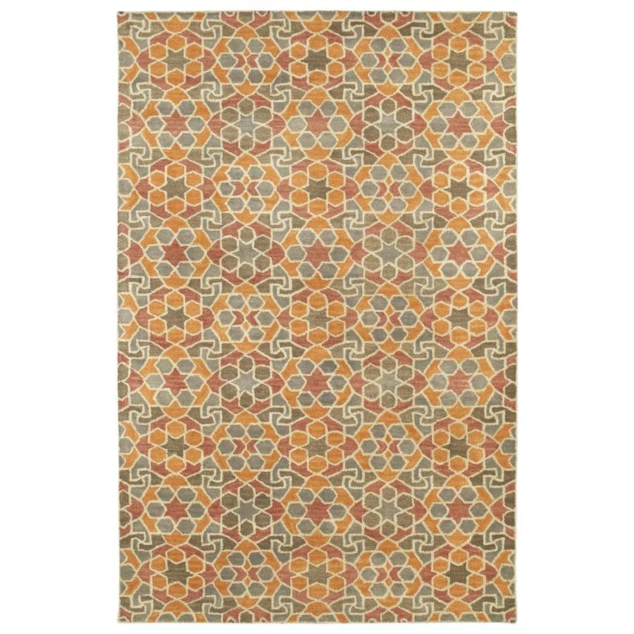 Kaleen Rosaic Orange Indoor Handcrafted Area Rug (Common: 10 x 13; Actual: 9.5-ft W x 13-ft L)