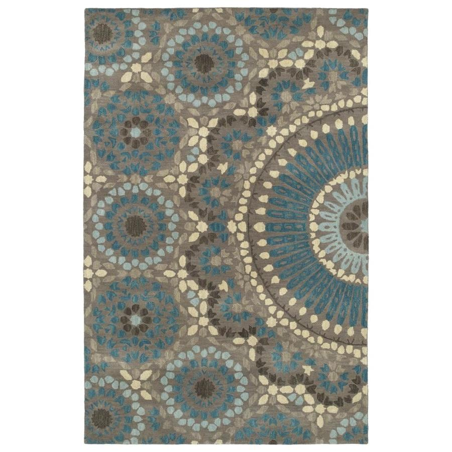 Kaleen Rosaic Teal Indoor Handcrafted Area Rug (Common: 8 x 11; Actual: 8-ft W x 11-ft L)