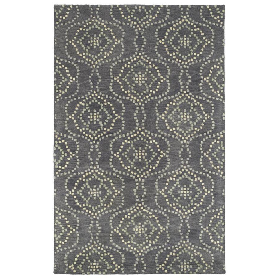 Kaleen Rosaic Slate Rectangular Indoor Handcrafted Area Rug (Common: 4 x 6; Actual: 3.5-ft W x 5.5-ft L)