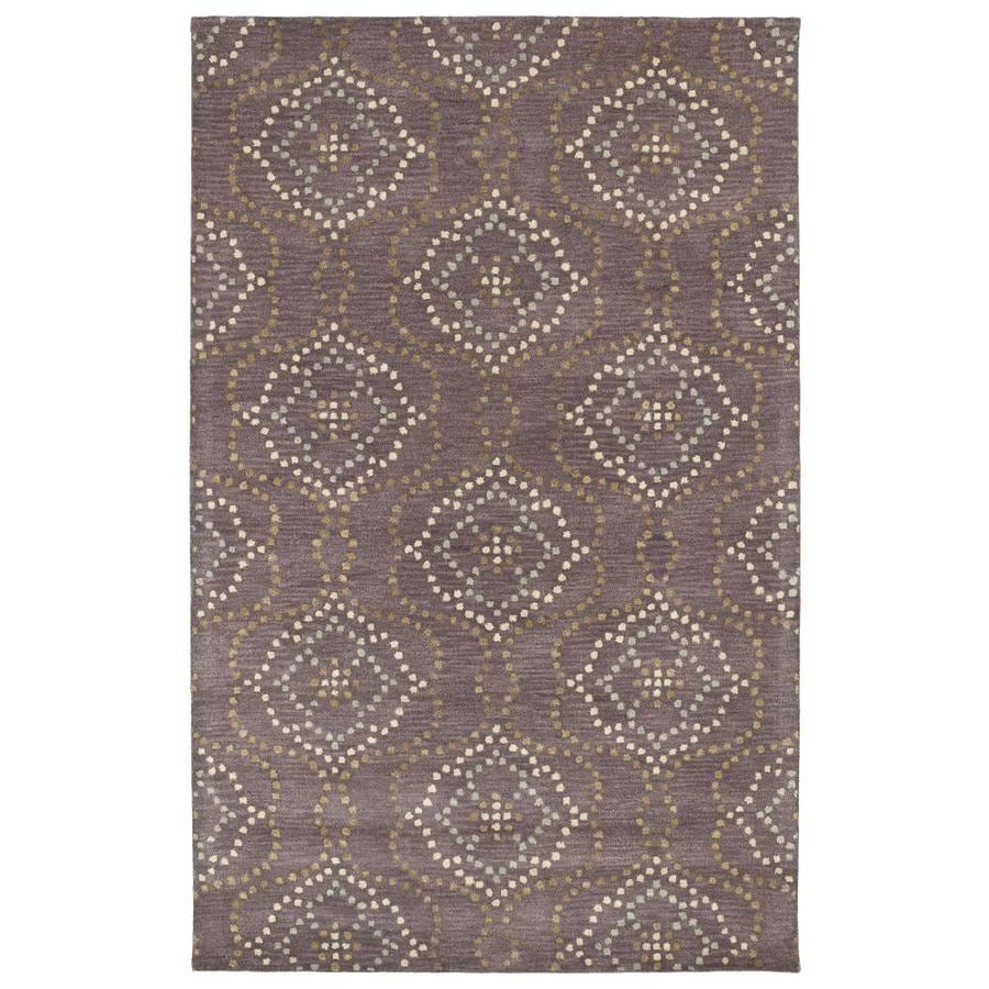 Kaleen Rosaic Grape Indoor Handcrafted Throw Rug (Common: 2 x 3; Actual: 2-ft W x 3-ft L)